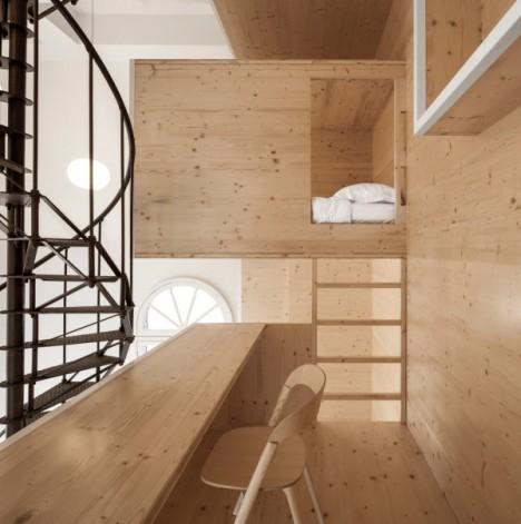 wood built in artist retreat 2