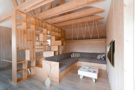 wood built in garage studio 2