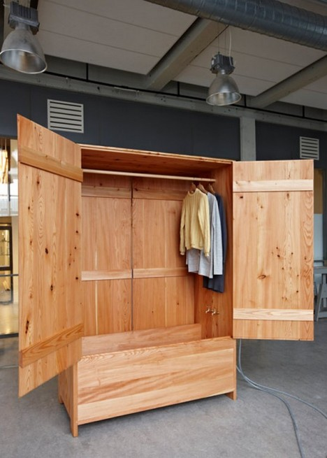 wood built in sauna cabinet 2