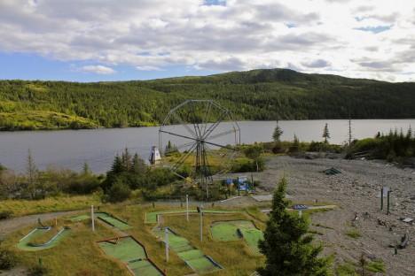 abandoned Trinity Loop Ferris wheel