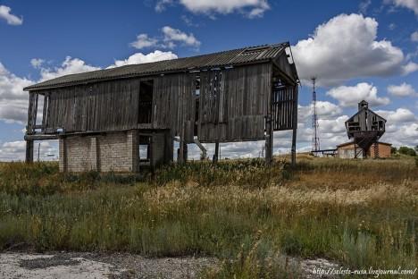 abandoned skeletal structures