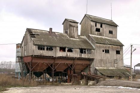 abandoned soviet granary