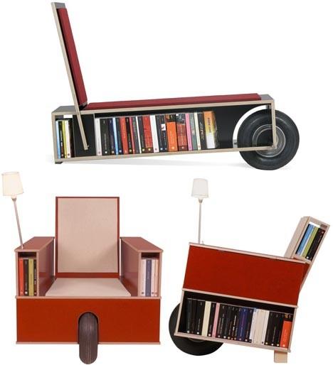 chairs rolling bookshelf