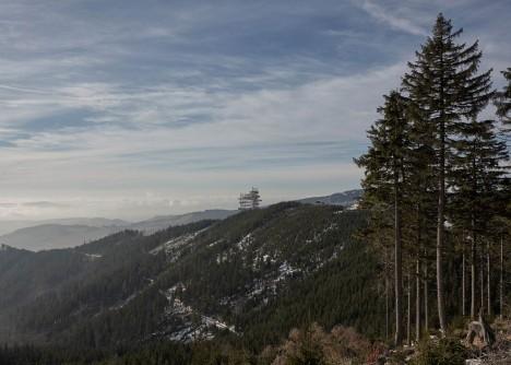 mountain architecture distance