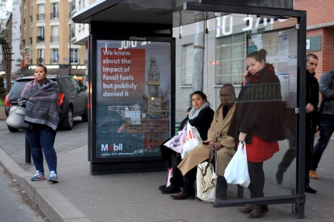 paris climate bus stop