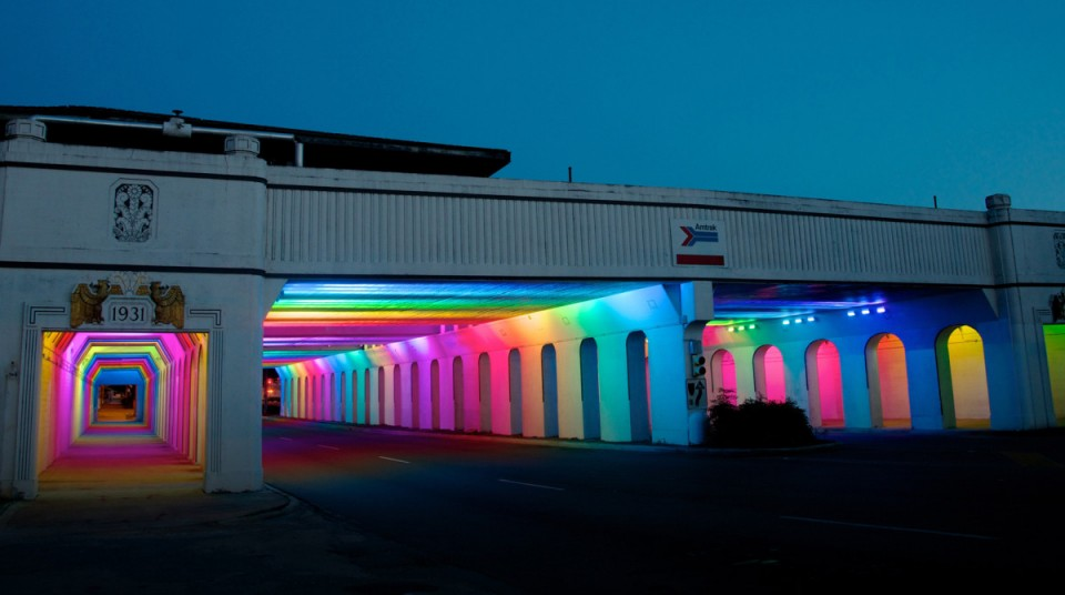 Urban Rainbows 14 Colorful Art Installations In The City