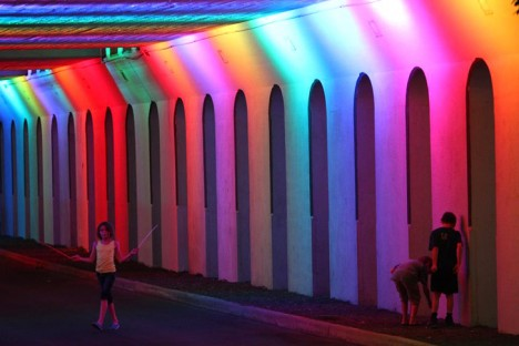 rainbow light rails 3