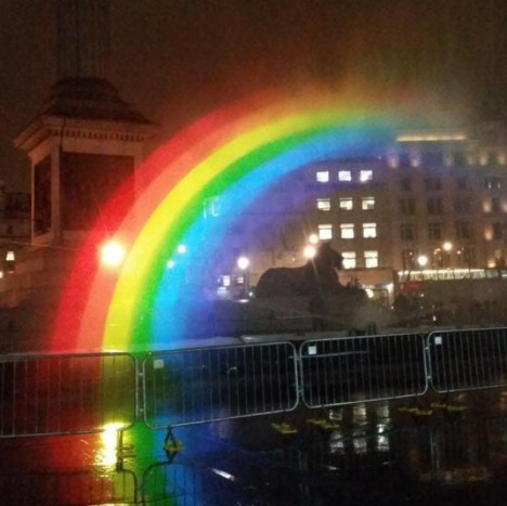 rainbow night trafalgar