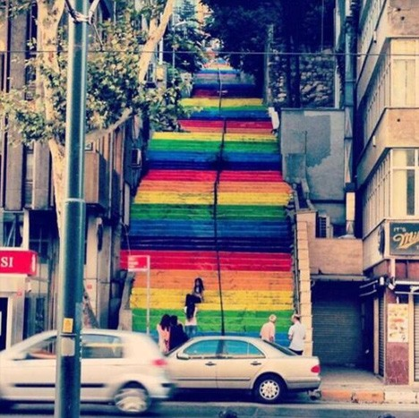 rainbow staircase 1