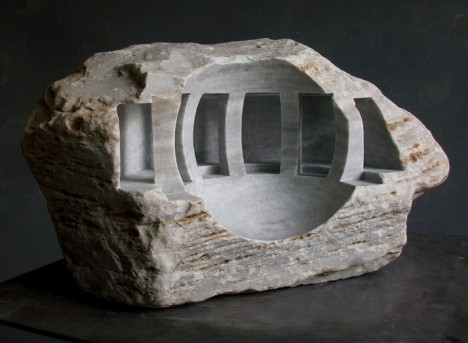 sclupture carved stone space
