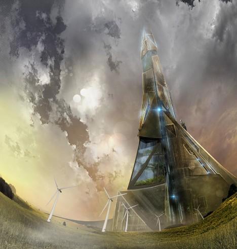 towers heiroglyph