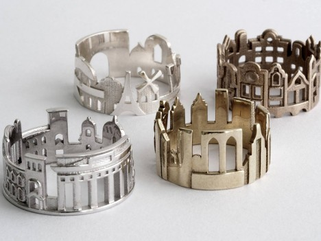 architectural ring collection