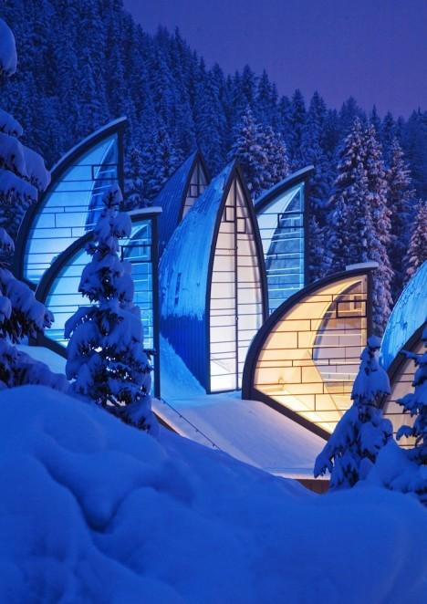artistic architecture alpine hotel 2