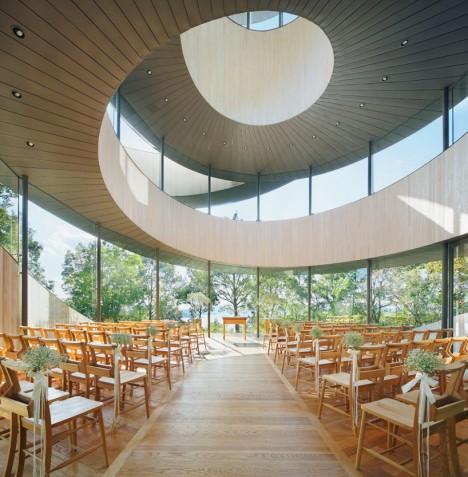 artistic architecture ribbon chapel 2