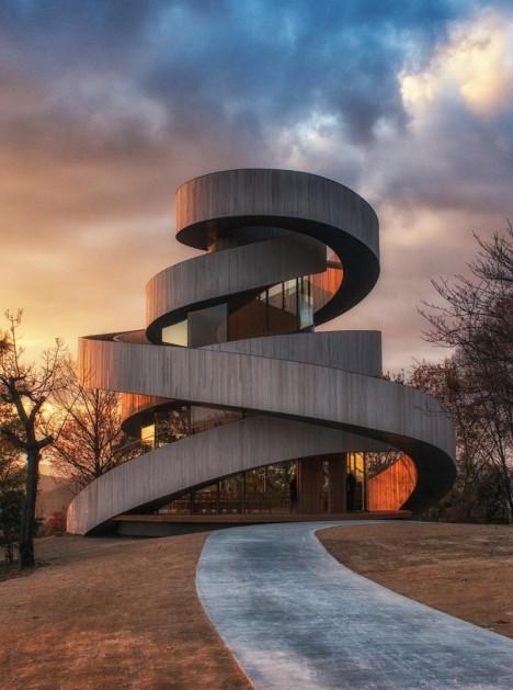 artistic architecture ribbon chapel