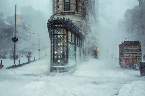 blizzard photo painting art