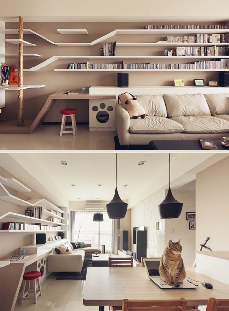 cat built in shelves 2