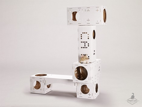 Modular Cardboard Cat Houses Part 60