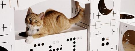cat houses cardboard 2