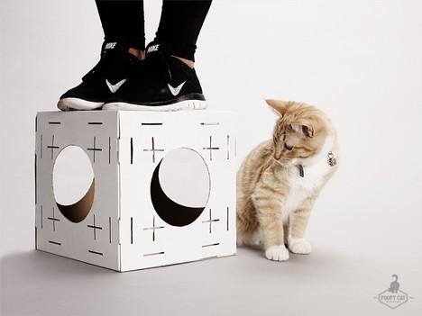 cat houses cardboard 3