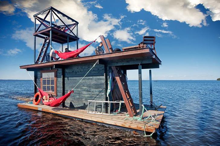 Super Deluxe Swim Platform Rent This Diy Floating Sauna