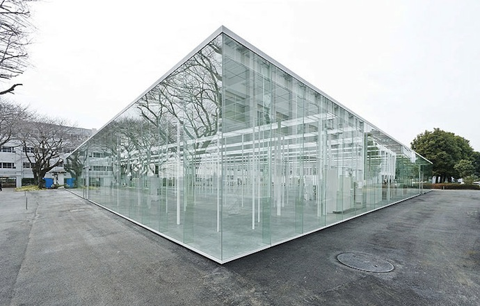 glass boxes japanese school