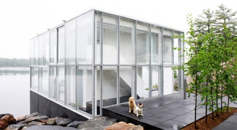 glass boxes lake house 1
