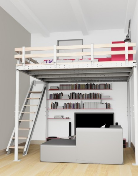 The Modular Vancouver Diy Loft T8 Kit Is Height And Width Adjule You Can Add On All Sorts Of Accessories Like Stairs Varying Steepness