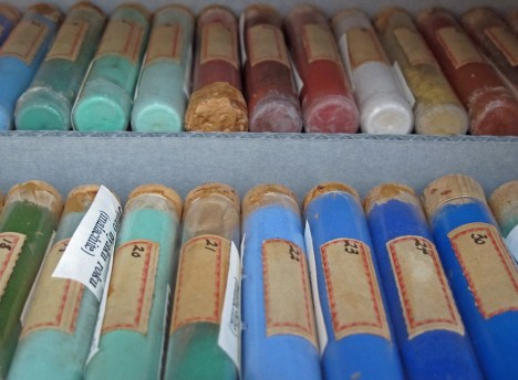 pigments on display