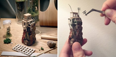 test tube miniature mountain