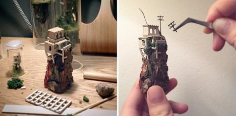 test tube miniature mountain