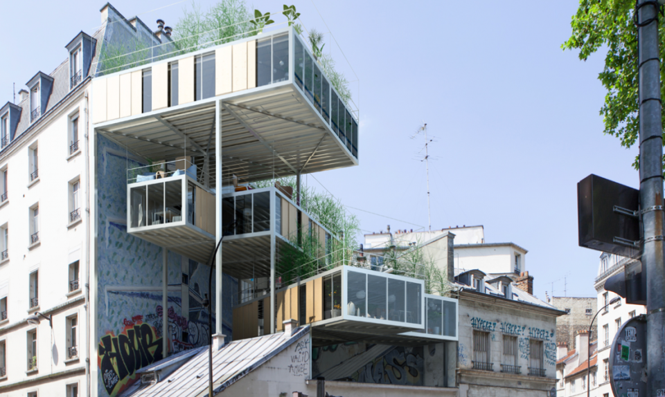 Parasite Houses Of Paris Rooftop Prefabs Cling To