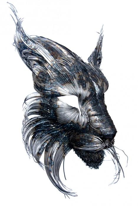 Superb animal art hammered