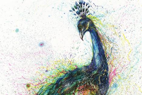 animal art splattered 3