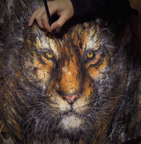 animal art splattered