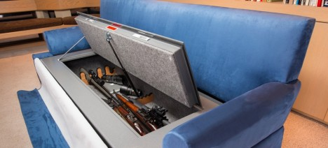 hidden couch gun safe