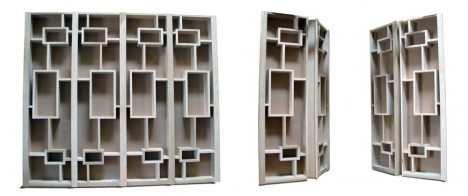 hidden passageway double folding bookcase