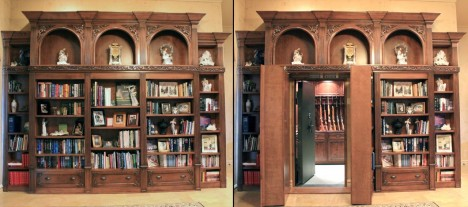 hidden passageway ornate bookcase