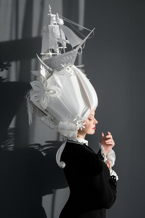 paper art wigs 2
