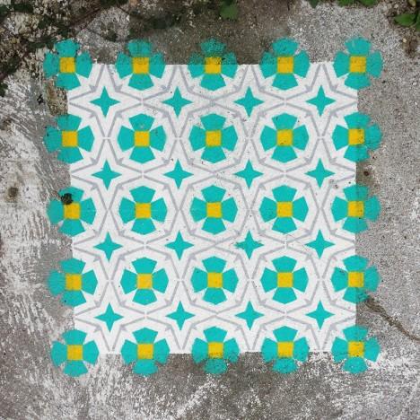 tile demolished house barcelona