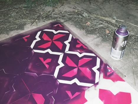 tile in progress
