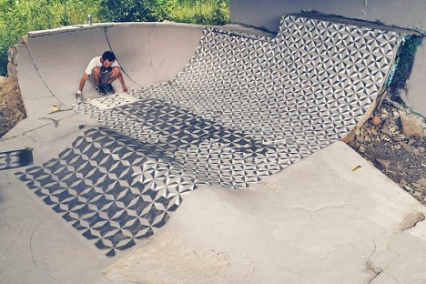 tile wrapping skate park
