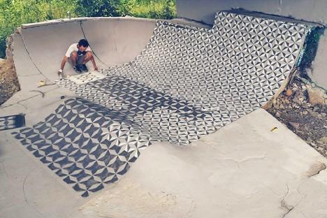 tile wrapping skate park