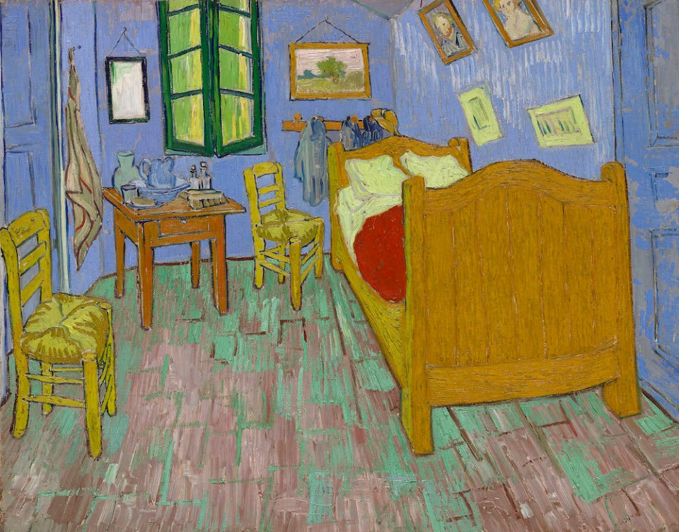van gogh original yellow bedroom