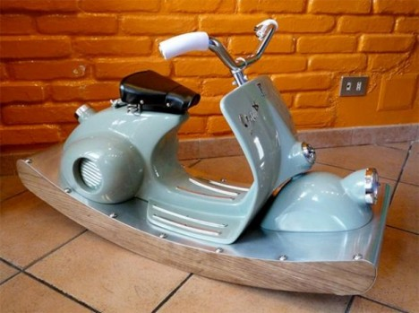 vespa inspired rocking horse