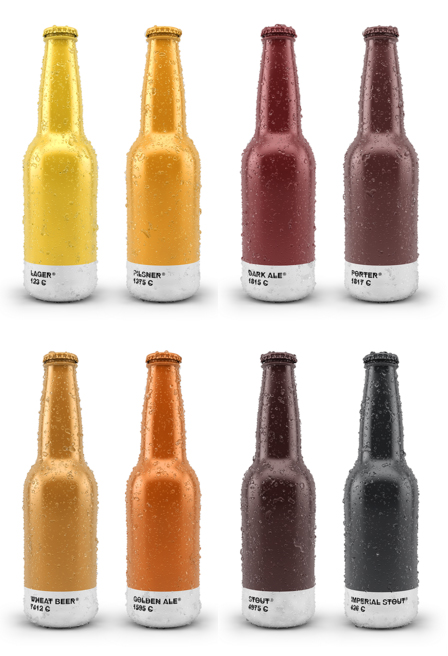beer colored cans aluminum