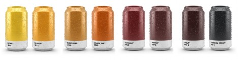 color coded beer cans