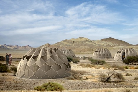 disaster design woven dome