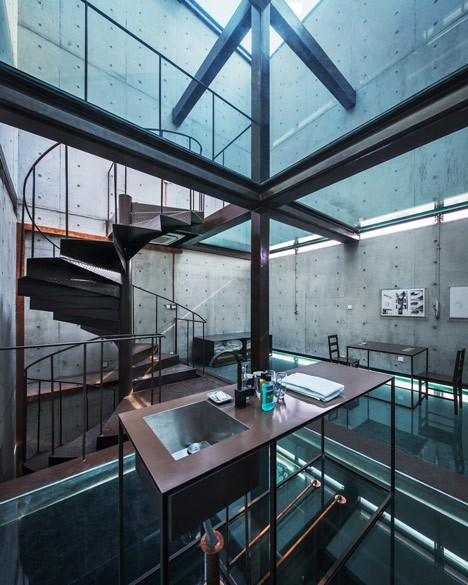 glass ceiling house 2