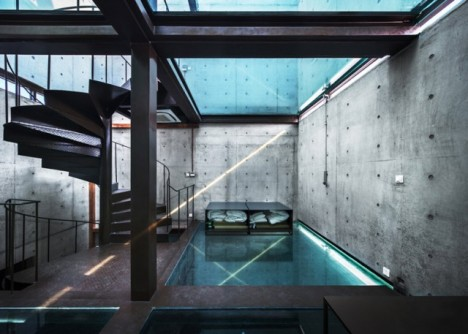 glass ceiling house